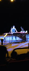 Mika Takehara performing her own pieces for solo marimba and electronics