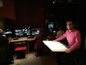 David Saulesco in the picture control room